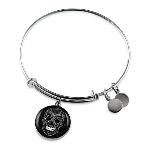 Sugar Skull Bangle - Cool Tees and Things
