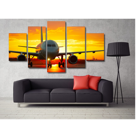 Sunset Airplane-Medium-Not Framed-Cool Tees & Things