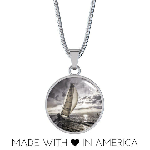 Sunset Sailing Pendant Necklace - Cool Tees and Things