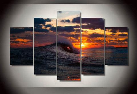 Sunset Waves-Medium-Not Framed-Cool Tees & Things