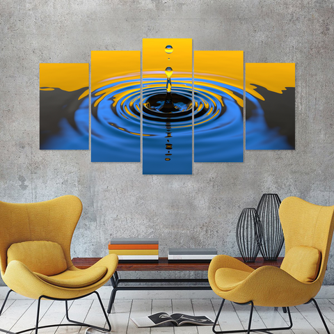 Tranquil Water Drop Canvas-Medium-Not Framed-Blue-Cool Tees & Things