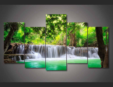Tropical Waterfall-Medium-Not Framed-Cool Tees & Things