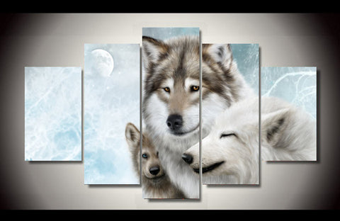 Winter Wolf Family - Cool Tees and Things