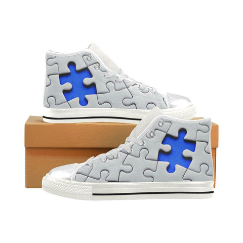 Women's Autism Awareness High Tops - Cool Tees and Things
