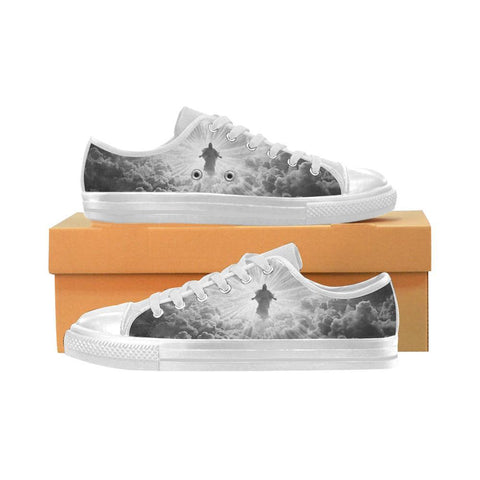 Womens Jesus is Coming Limited Edition Grayscale Sneakers - Cool Tees and Things