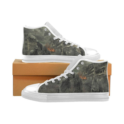 Zombie Apocalypse Mens High Tops - Cool Tees and Things