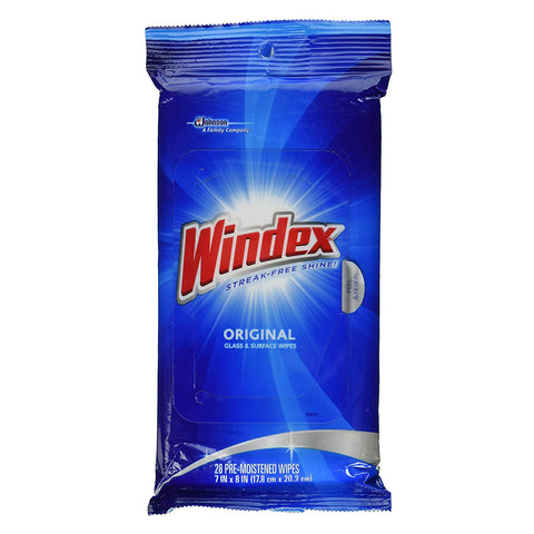Windex Glass & Surface Wipes 28 Pieces - 12 Pack