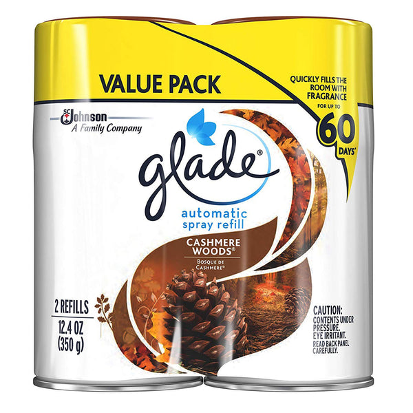 Glade Automatic Spray Refill Cashmere Woods 2 Pieces - 6 Pack