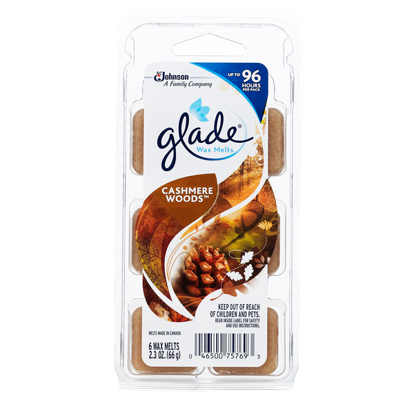 Glade Wax Melts Cashmere Woods 6 Pieces - 2 Pack
