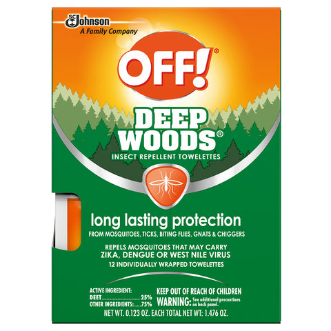OFF! Deep Woods Towelettes 12 Pieces - 6 Pack