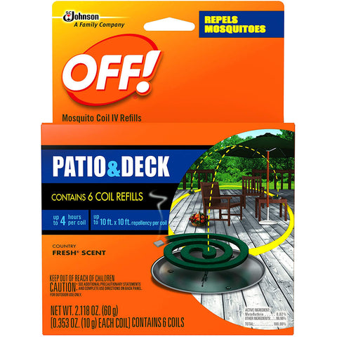 OFF! Patio & Deck Mosquito Coil Refills - 2 Pack