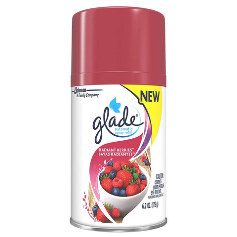 Glade Automatic Spray Air Freshener Refill, Radiant Berries - 3 Pack