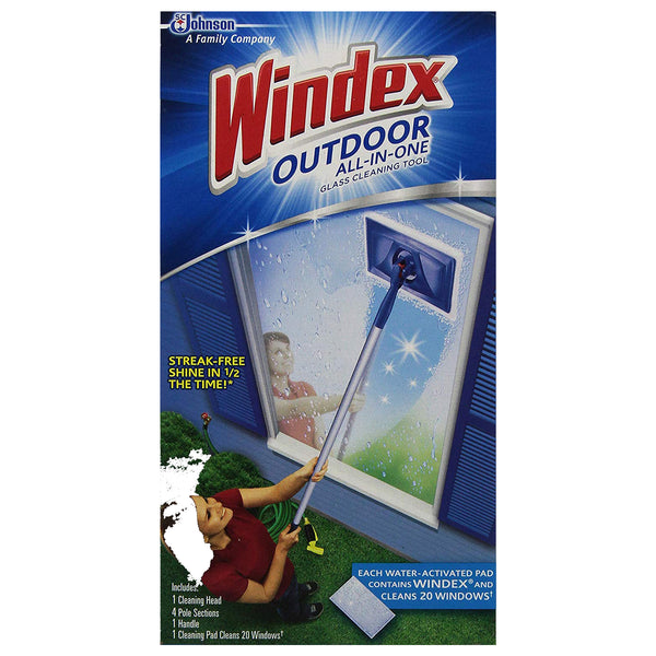 Windex Outdoor All-In-One Glass Cleaning Tool - 3 Pack