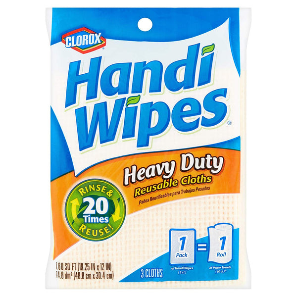 Clorox Handi Wipes Heavy Duty Reusable Cloths 3 Pieces - 2 Pack