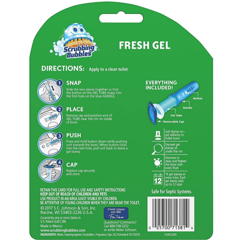 Scrubbing Bubbles Fresh Gel Toilet Cleaning Stamp