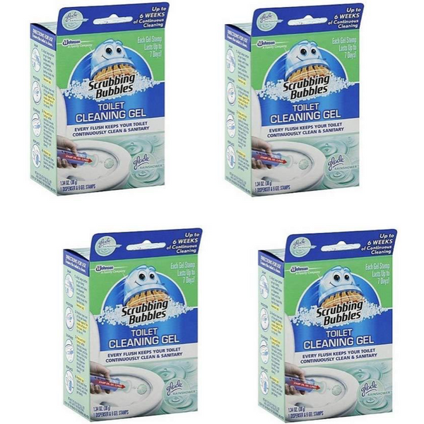 Scrubbing Bubbles 6-Count Toilet Cleaning Gel, 4 Pack