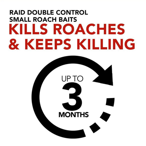 Raid Double Control Small Roach Baits Plus Egg Stopper