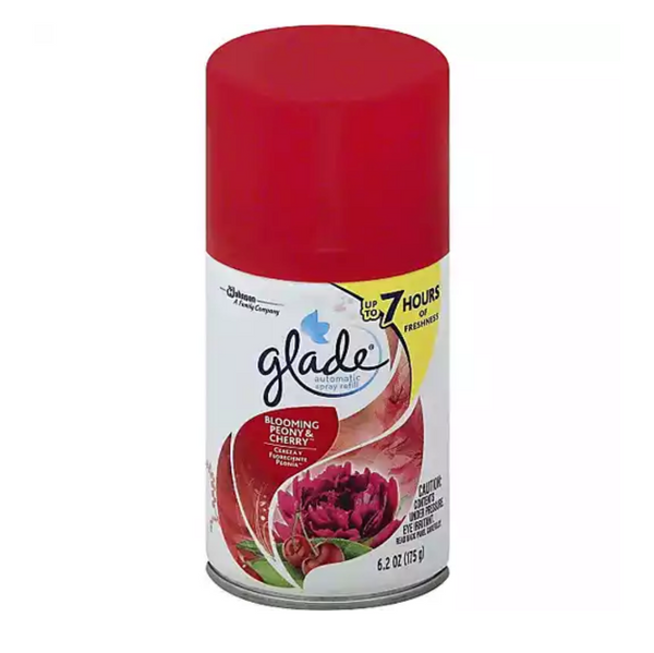 Glade Blooming Peony and Cherry Automatic Spray Refill, 6 Pack