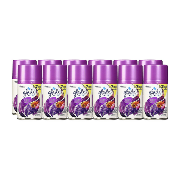 Glade Automatic Spray Air Freshener Refill, Lavender and Peach Blossom, Pack of 6, 2Units