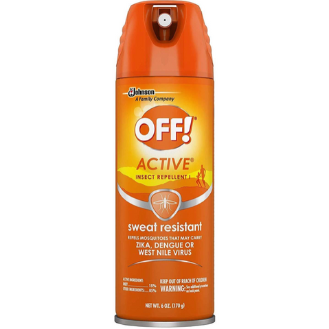 OFF! Active Insect Repellent, Sweat Resistant 6 oz, Pack of 6