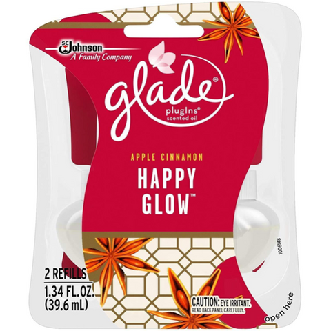 Glade Plugins Scented Oil Air Freshener Refill, Happy Glow, 1.34 oz