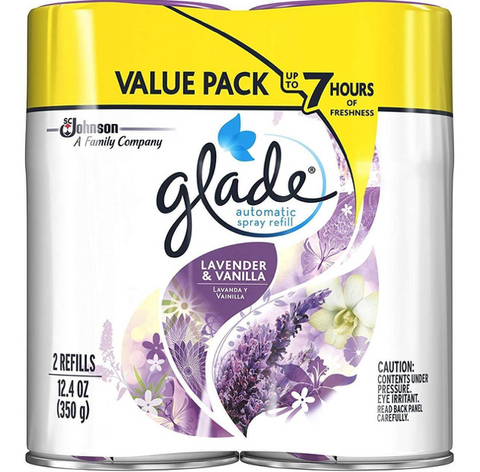 Glade Automatic Spray Refill Lavender & Vanilla, 6.2 oz, 3 Pack, 6 Counts