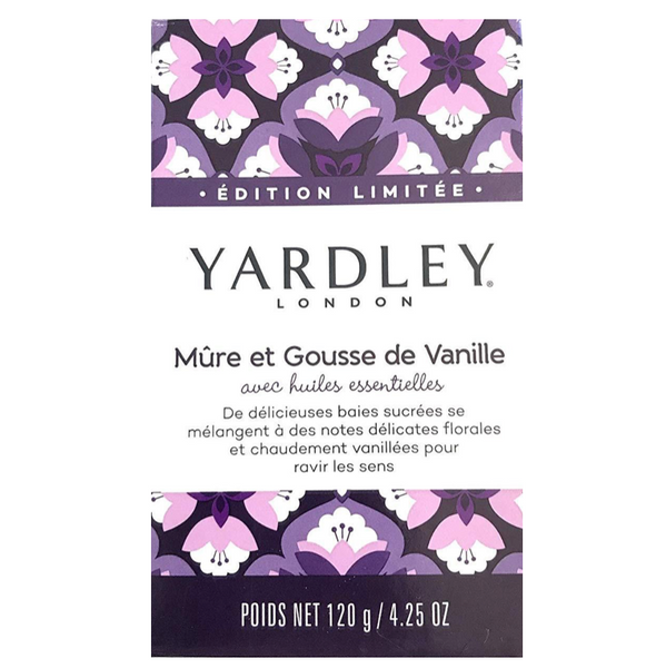 Yardley Bar Soap Blackberry and Vanilla, 6 Pack