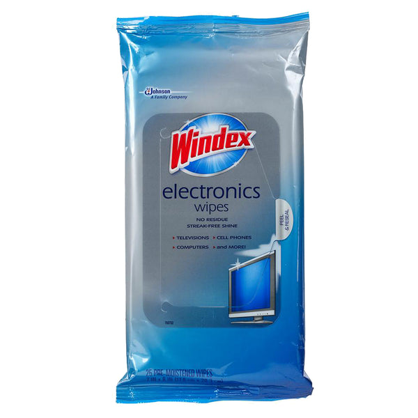 Windex Electronics Wipes 25 Pieces - 12 Pack