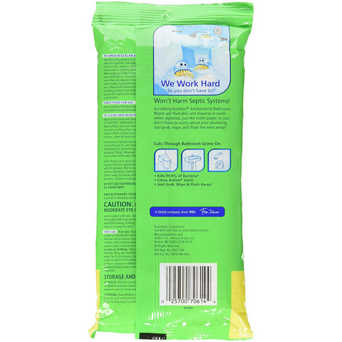 Scrubbing Bubbles Antibacterial Bathroom Flushable Wipes 28 Pieces - 4 Pack