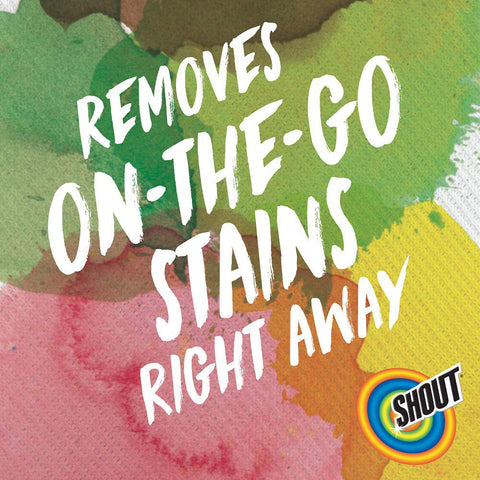 Shout Wipe & Go Instant Stain Remover Wipes Travel Size