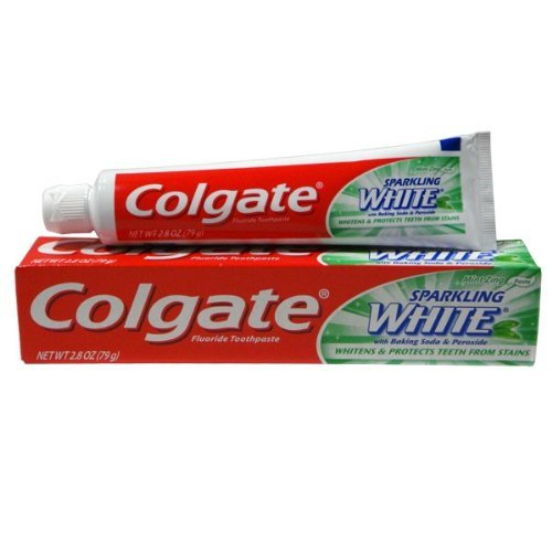 Colgate Fluoride Toothpaste Sparkling White Mint Zing, 12 pack