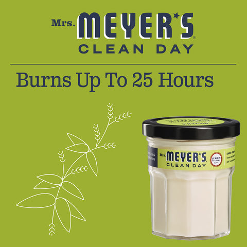 Mrs. Meyer's Clean Day Scented Soy Candle Lemon Verbena 4.9 Oz