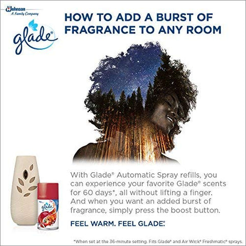 Glade Automatic Spray Air Freshener Starter Kit, Hawaiian Breeze, 6.2 oz, 2 Pack
