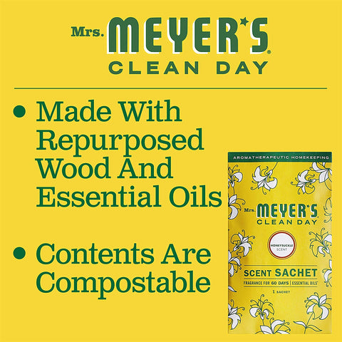 Mrs. Meyer's Clean Day Scent Sachets Honeysuckle