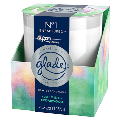 Glade Atmosphere Collection Crafted Soy Candle No. 1 Enraptured