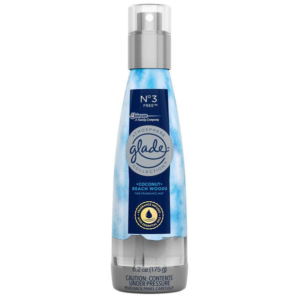 Glade Fine Fragrance Mist, Coconut & Beachwood, 6.2 oz, 3 Pack