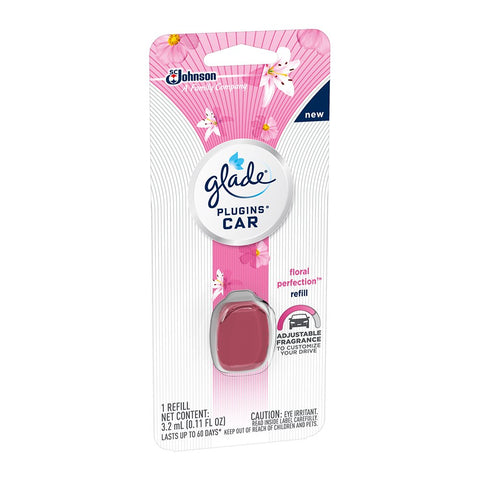 Glade Plugins Car Air Freshener Refill Floral Perfection, 0.11 oz