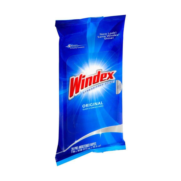 Windex Original Glass Cleaner Wipes 28 Wipes - 12 Pack