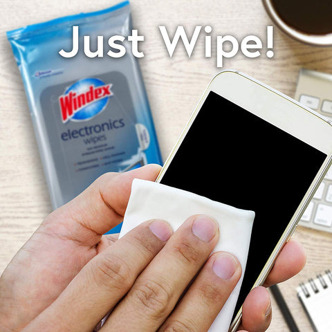 Windex Electronics Wipes 25 Pieces - 6 Pack