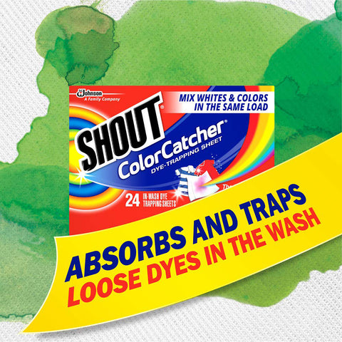 Shout Color Catcher Dye-Trapping Sheets 24 Pieces