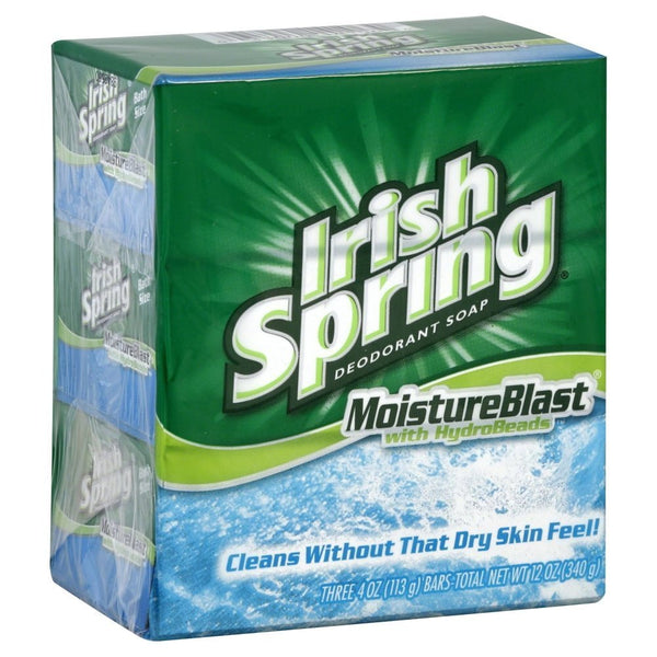 Irish Spring Deodorant Soap, 4 Pack