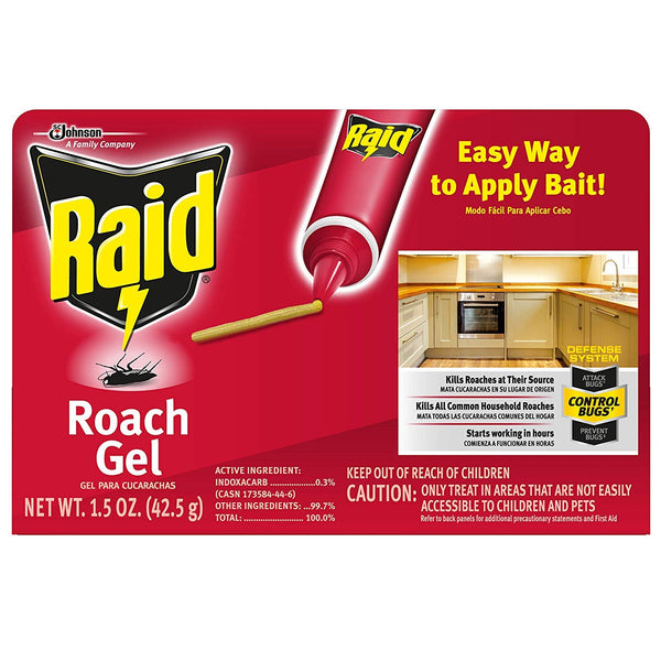 Raid Roach Gel, 1.5 OZ, Pack of 12