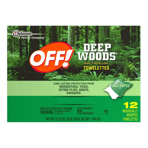 OFF! Deep Woods Insect Repellent Wipes, 72 Count Value Pack