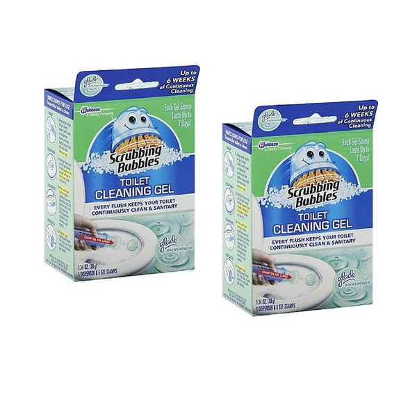 Scrubbing Bubbles 6-Count Toilet Cleaning Gel, 2 Pack