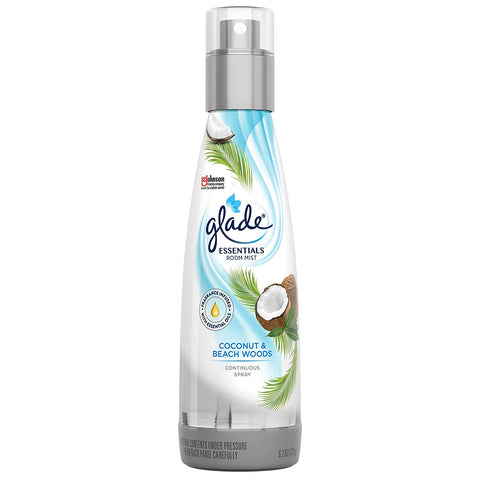 Glade Coconut & Beach Woods Essentials Room Mist, Room Spray, 6.2 oz