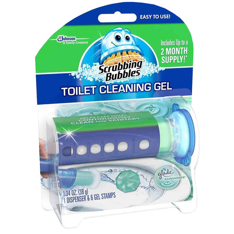 Scrubbing Bubbles Fresh Gel Toilet Cleaning Stamp 6 Refills 4 Pack