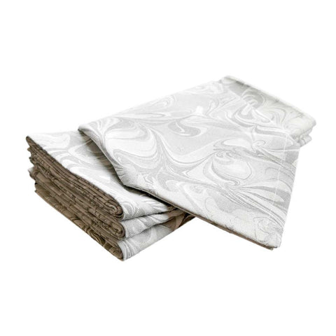 Birch Marble Napkins, Set of 4