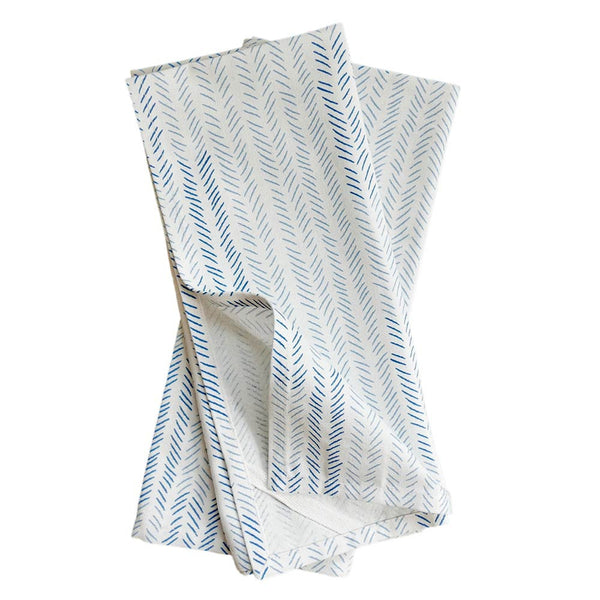 Celestial Etched Chevron Tea Towel, Set of 2