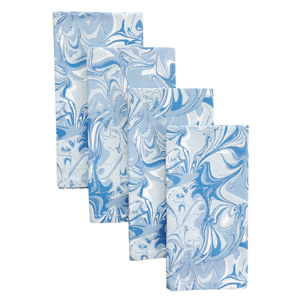 Celestial Marble Napkins, Set of 4