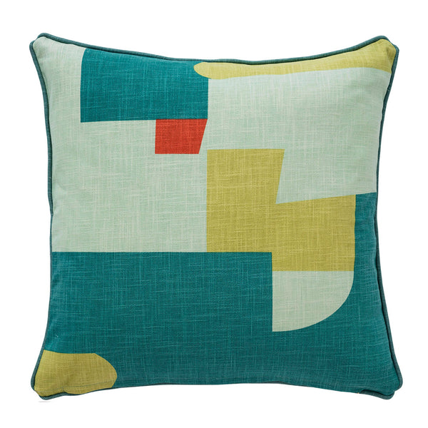 "Abstract Teal Accent Pillow Cover, 20"" x 20"""